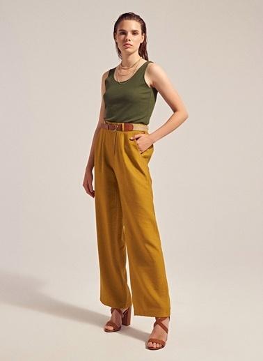 Monamoda Cepli Relax Fit Bol Pantolon Yeşil